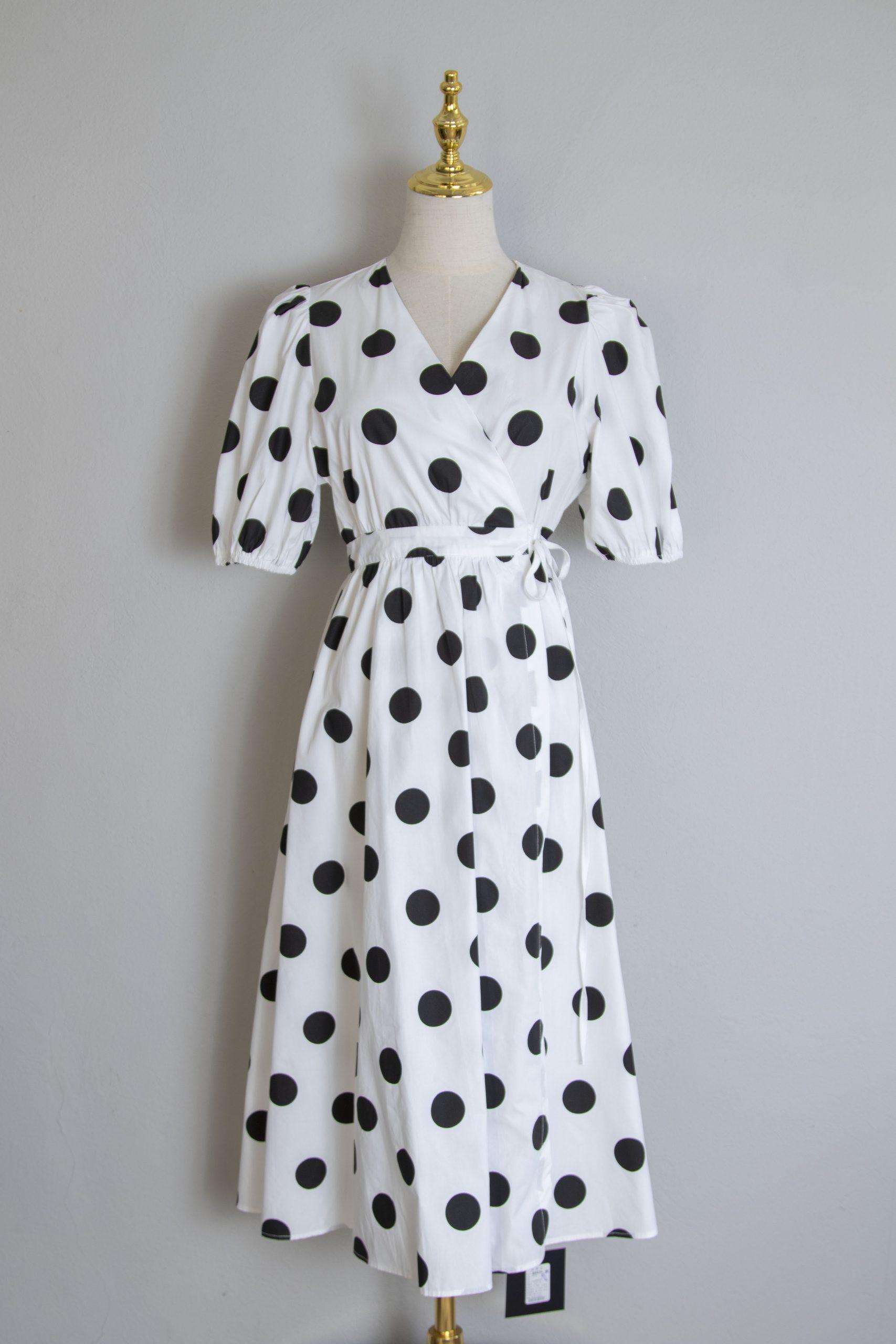 Cotton crossover dress